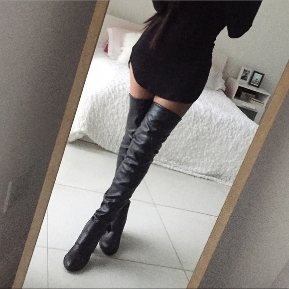 Aldo Shoes Over The Knee Leather Boots Poshmark